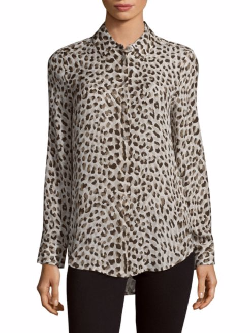 Equipment Leopard Silk Shirt