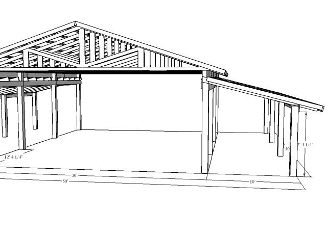 Shed Roof Pole Barn Plans For Free Shed Plans With Loft