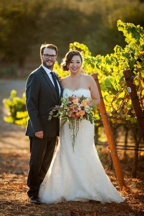 Sonoma Wedding Filled with Monique Lhuillier Gowns