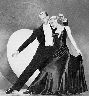 An RKO publicity still of Astaire and Rogers d...