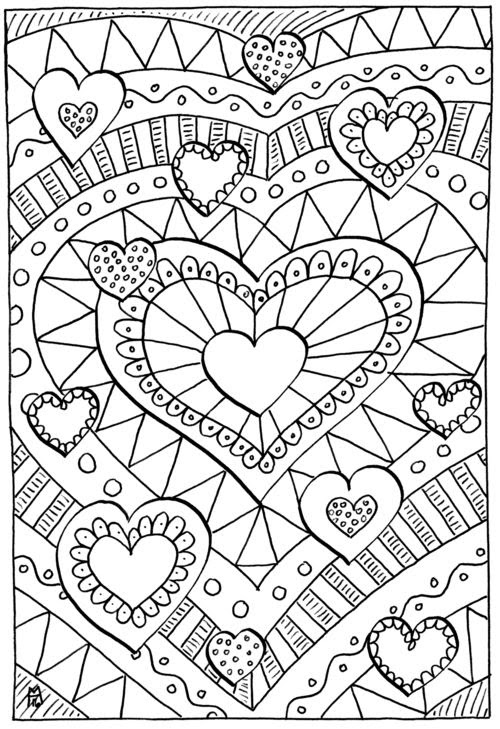 Printable Coloring Pages For Adults Love - Coloring And Drawing