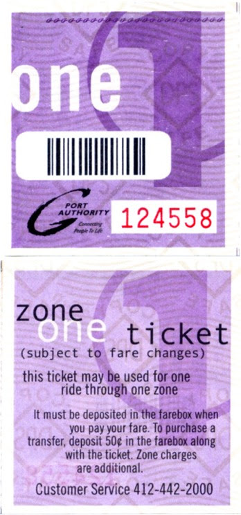 PAT ticket (front and back)