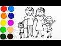 Dibujos Para Colorear De La Familia Para Ninos