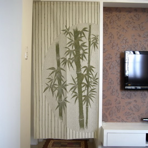 Chinese Bamboo Design Door Curtain D2942 - contemporary - shower ...