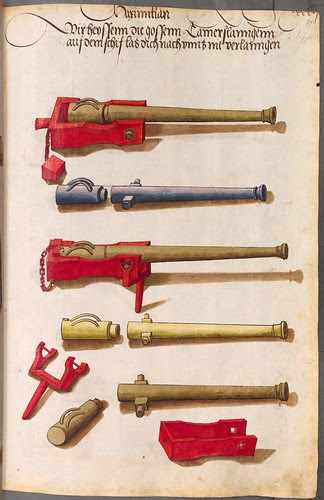 selection of long barrel cannon components