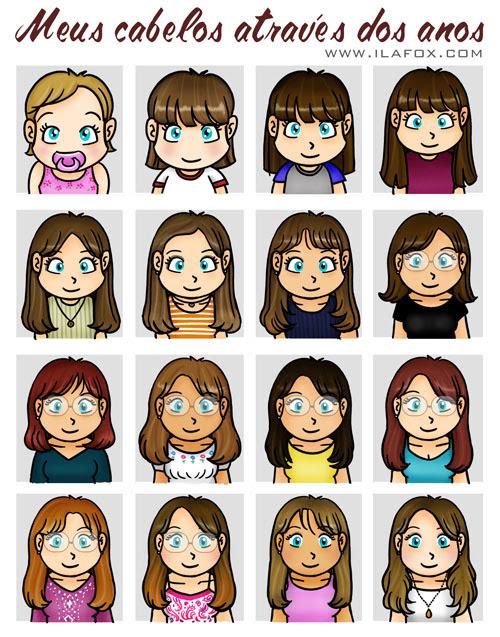 cabelos diferentes através dos tempos