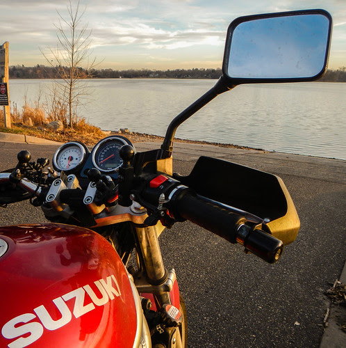 SV650 at Lake at Sunset