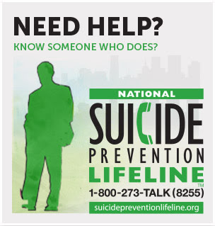 Need Help? Call the suicide prevention line