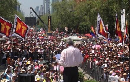 El mitin encabezado por López Obrador. Foto: Tomada de Twitter.
