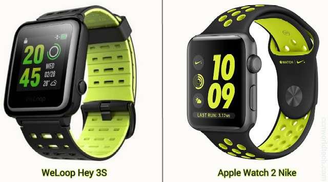 WeLoop Hey 3S and Apple Watch 2 Nike