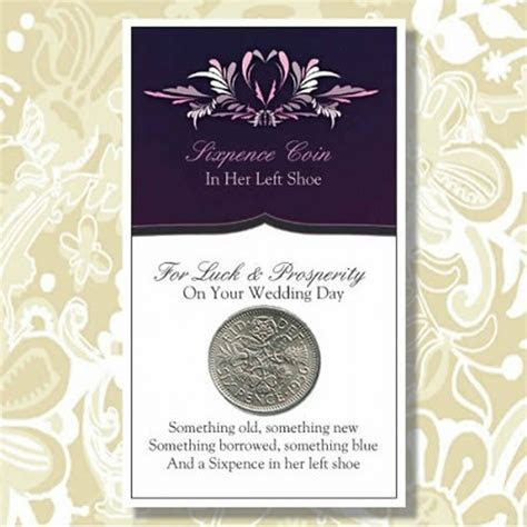 And a Sixpence in her Left Shoe Wedding Good Luck