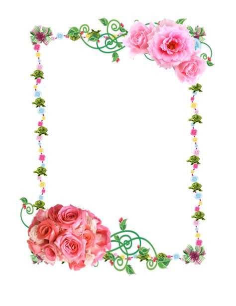 flowers photo frame png