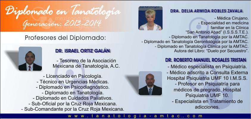 Docentes del Diplomado en Tanatología