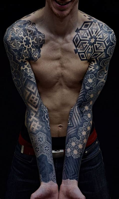 amazing hands blackwork tattoo sleeve tattoo