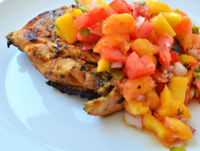 Peachy Chicken w/ Peach Salsa