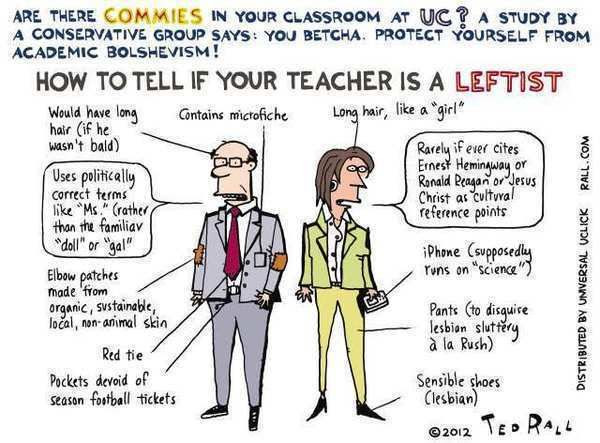 Image result for leftist professor cartoons
