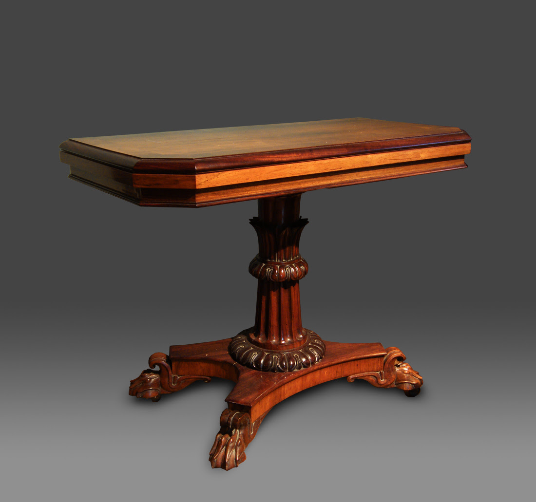 Antique Card Table Made By William Owen Of Haverfordwest With A Fold