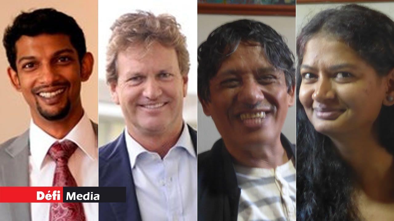 Adish Maudho, Jean Pierre Dalais, Jocelyn Chan Low et Priya Bahadoor.