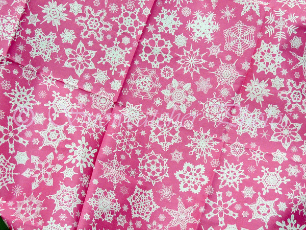 I needed pink snowflake fabric, so I designed some myself.