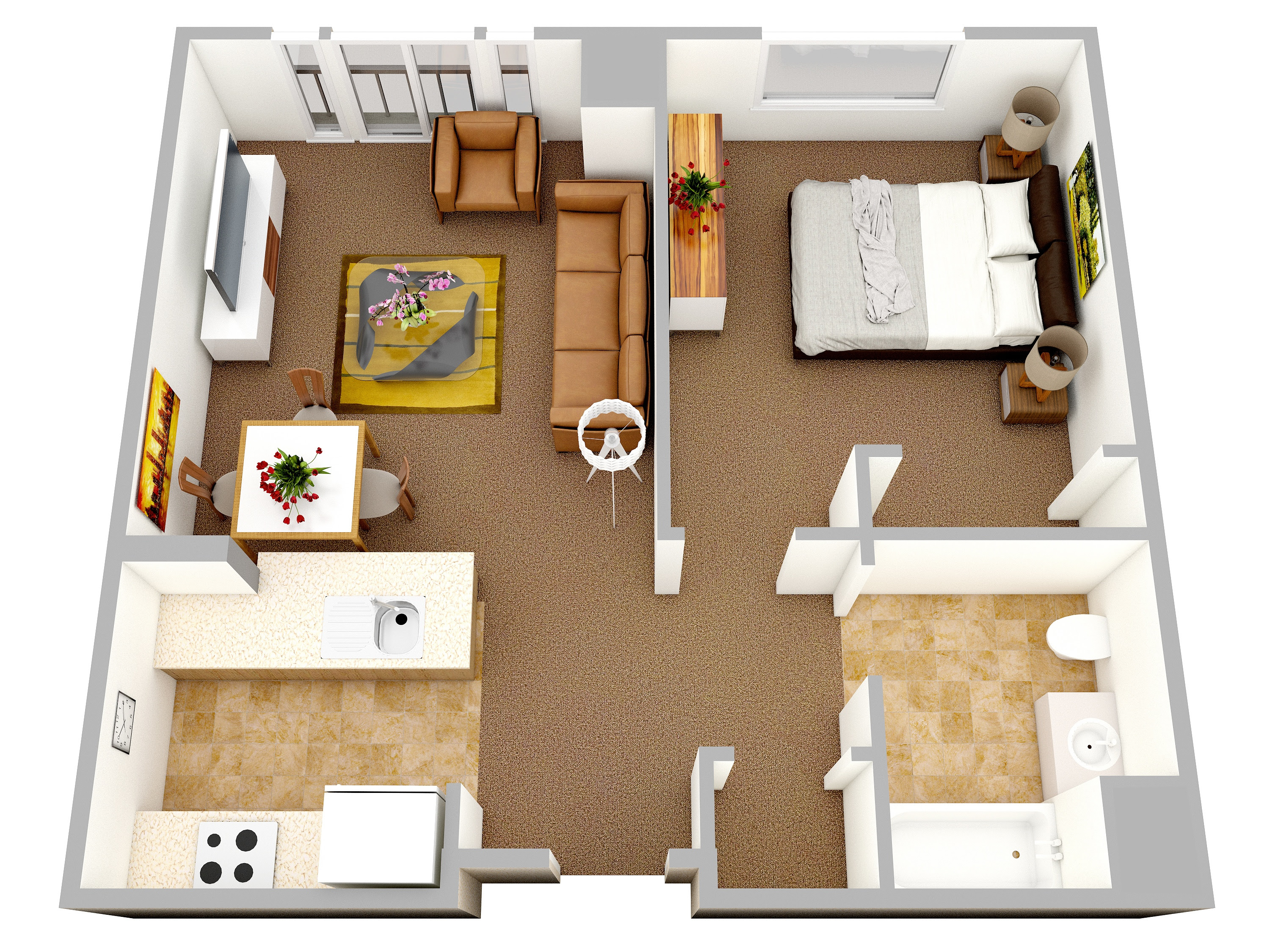 47 New House Plan 1 Bedroom House Plan Pictures