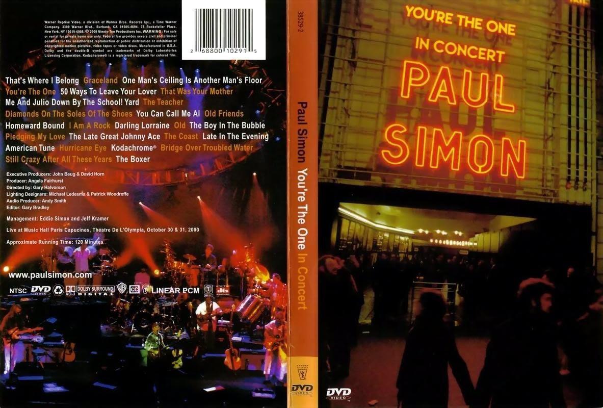 Paul Simon Live! - You're The One - Paris, 2000