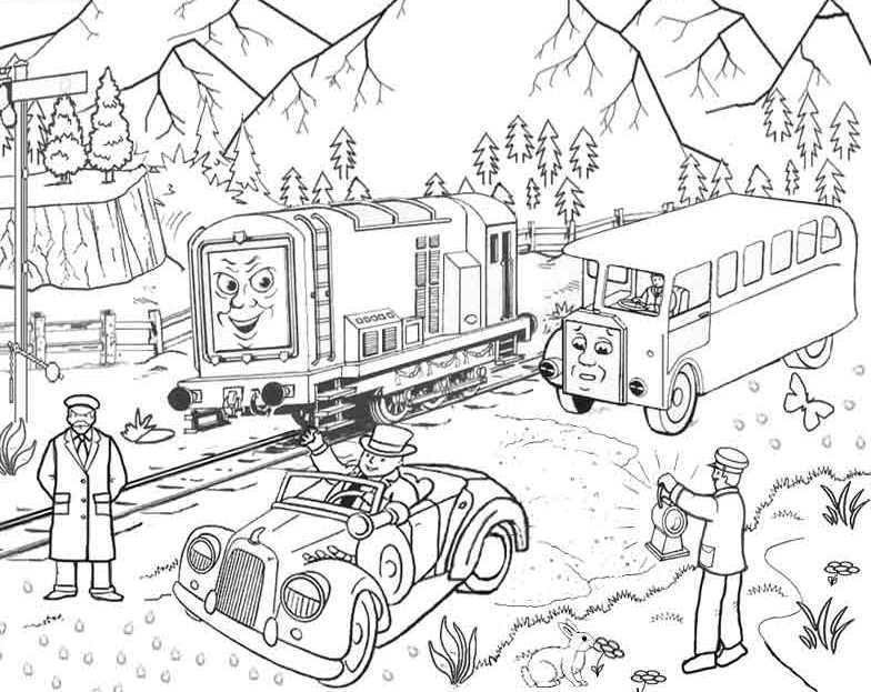 James From Thomas The Train Coloring Pages Thomas The Tank Engine