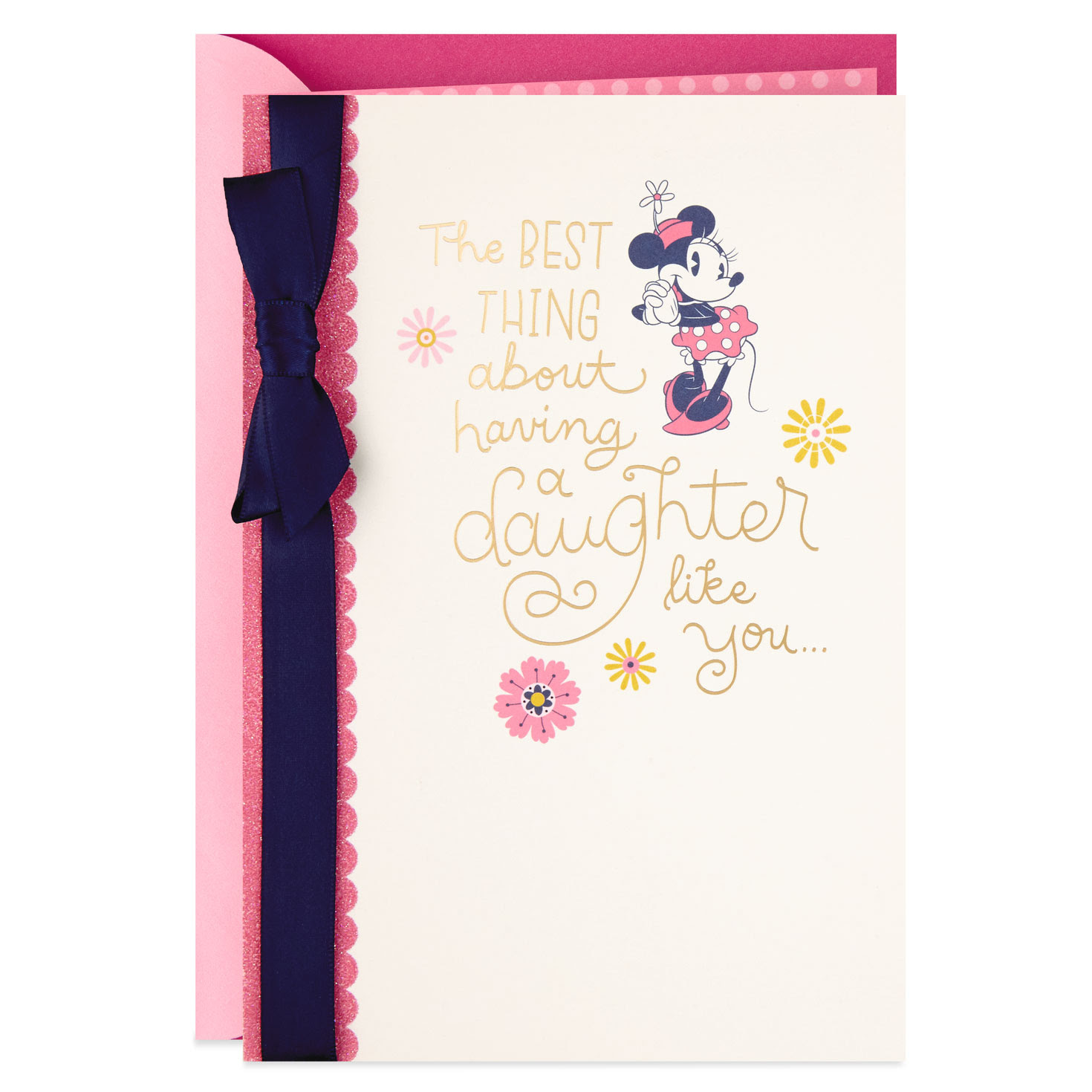 Disney Minnie Mouse Mother's Day Card for Daughter - Greeting Cards - Hallmark