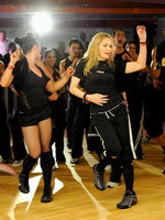 Madonna during the exclusive dance class at the Hard Candy Fitness center, Mexico 02