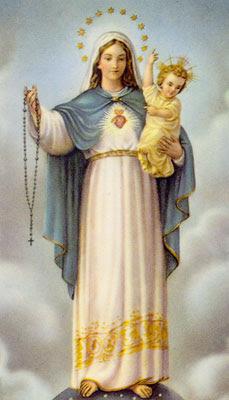 Resultado de imagen para virgen del rosario