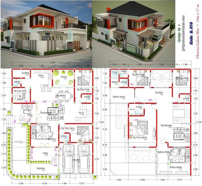 Denah Rumah Hook Minimalis 1 Lantai | Ide Rumah Minimalis