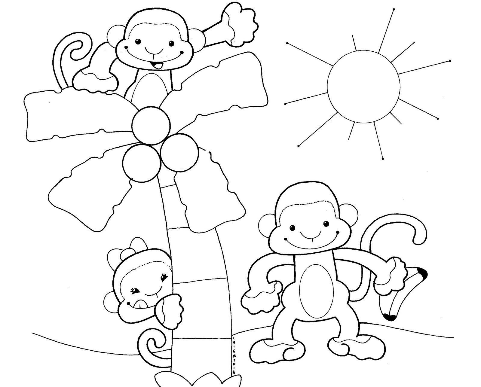 Dibujos Monos Para Colorear Rincon Util