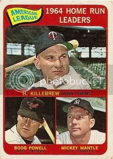 #3 AL Home Run Leaders: Harmon Killebrew, Boog Powell, and Mickey Mantle