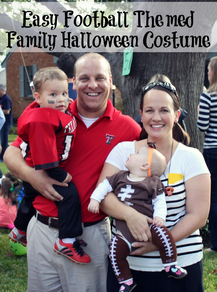 easy football themed family halloween costume