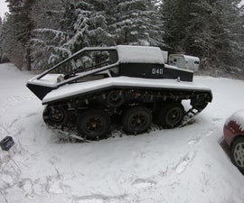 Full-Sized All-Terrain Tracked Vehicle from Junk