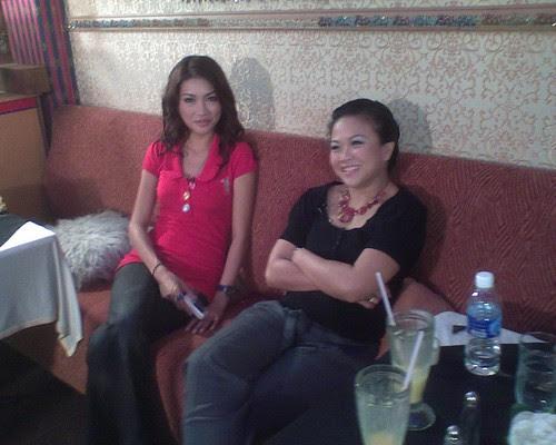 Amber Chia and Fay the Hostess
