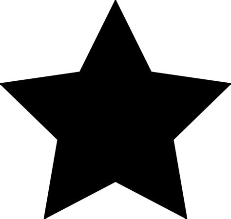 bintang hitam bookmark gambar vektor gratis  pixabay
