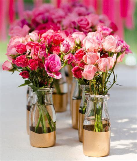 Royal Gold Dipped Vases   AllFreeDIYWeddings.com