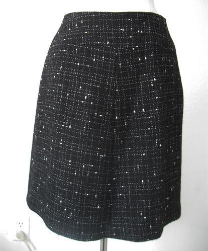 black white suit skirt