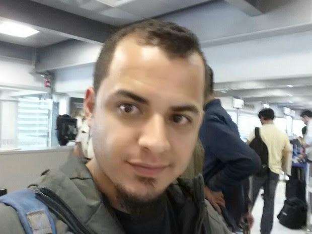Turista ficou cerca de nove horas detido em sala do aeroporto sem comunicação (Foto: Arquivo Pessoal/ Leonardo Bottini)