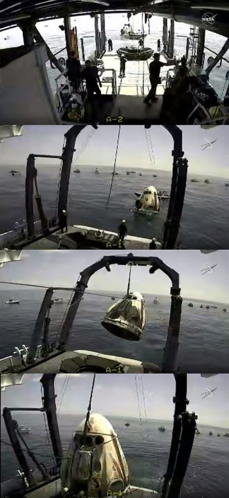 NASA Astronauts Safely Splash Down As SpaceX Crew Dragon Returns From Space
