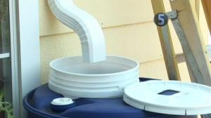 Making your own rainwater collection system is easy and inexpensive. Image: Videojug.com