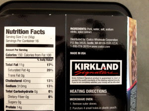 Costco Pulled Pork Nutrition