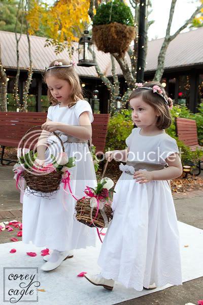 Flower girls at wedding at Deerpark on Biltmore Estate