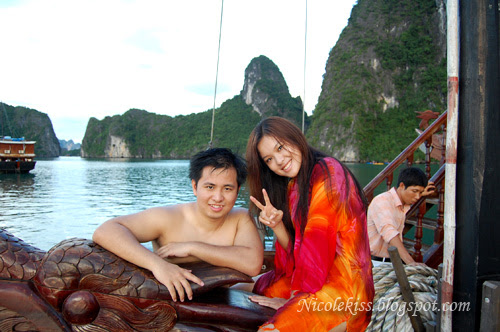 me and kenny in halong bay