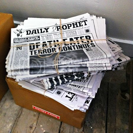 Mock-ups of Daily Prophet papers - The House of MinaLima