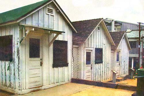 Cannery Row Shacks by Old Jingleballicks