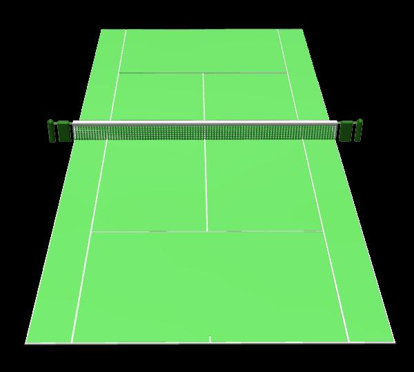 テニスコートa002 イラストサービス