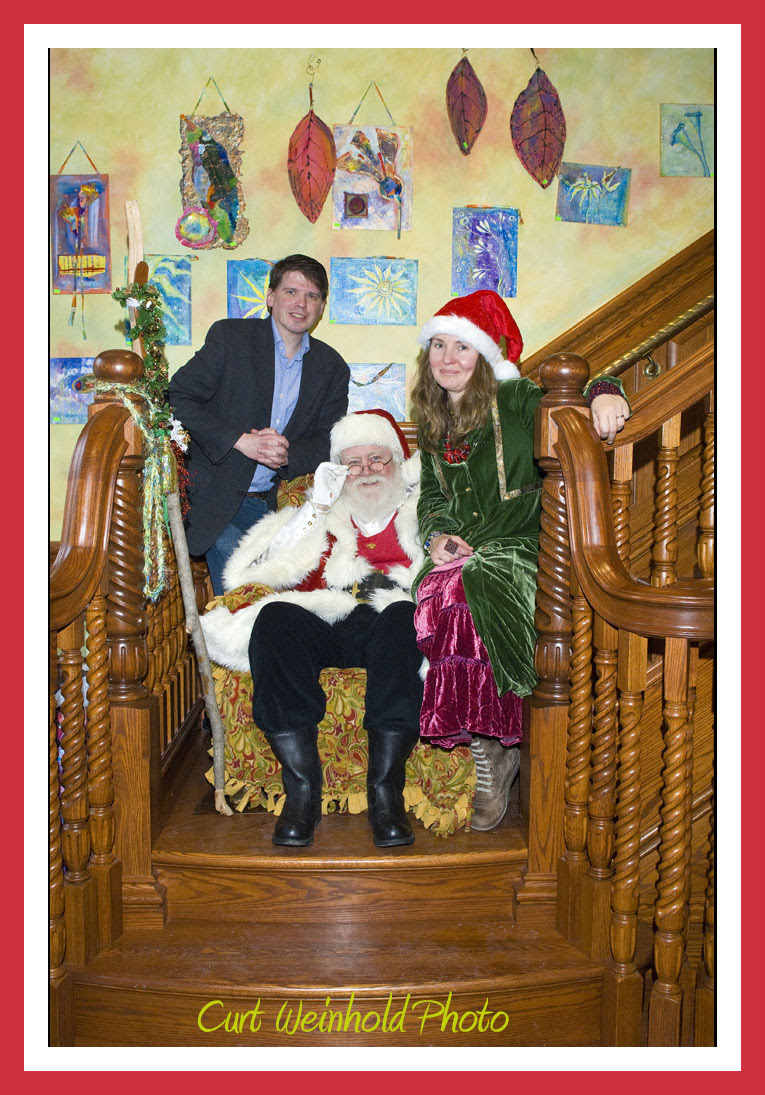 Olga & John with Santa