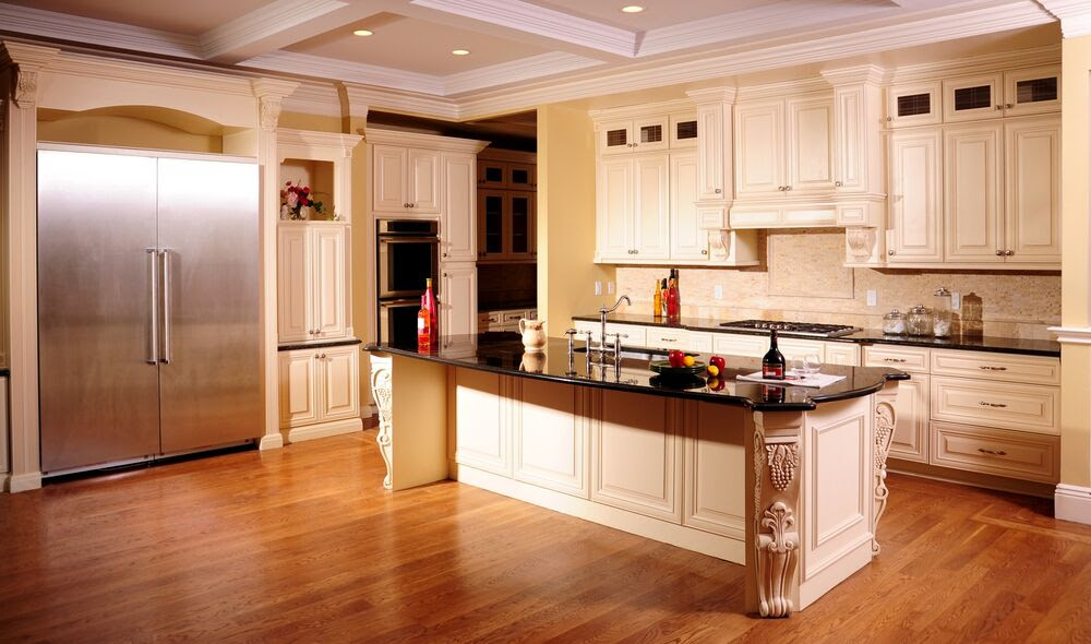 Kitchen Cabinets Maple Glaze Collection solid wood Soft