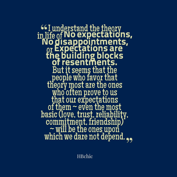 Quotes About No Expectations 123 Quotes